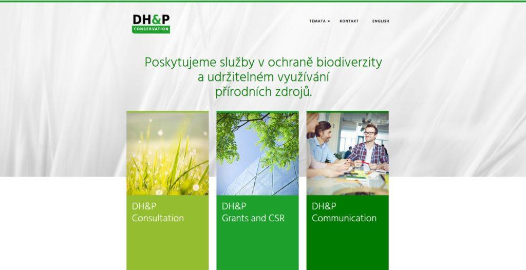 DHP webové stránky.