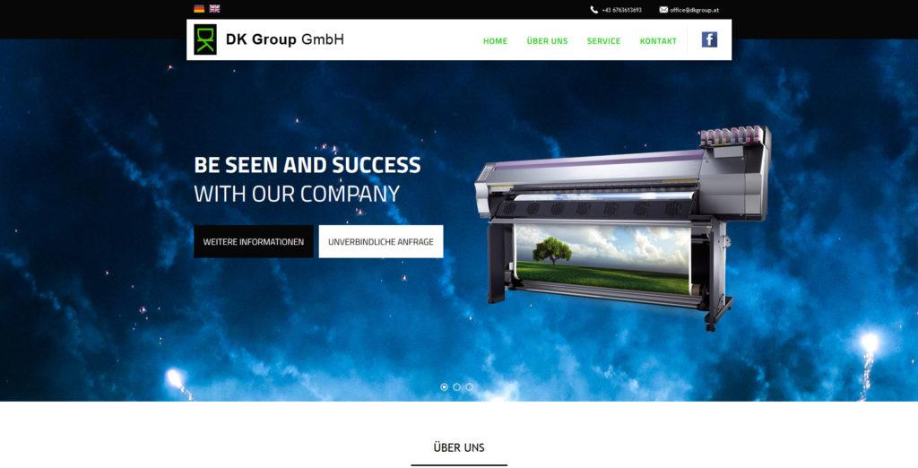 Webové stránky DK Group.