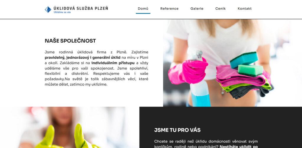 Webové stránky úklidové služby.