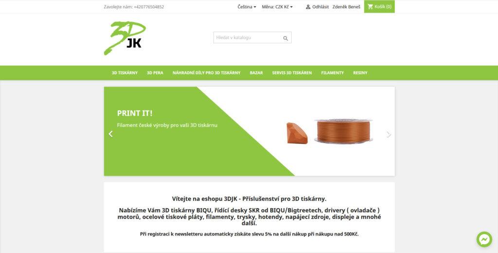 3DJK s.r.o. e-shop